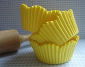 Spring Yellow Scallop Cupcake Liners, Specialty Baking Cups (50 ) Perfect Wedding