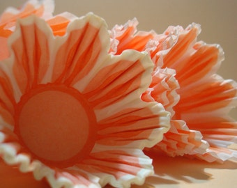 Mini Cupcake Liners Orange Tulip  Baking Cups 45