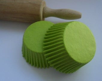 Solid Lime Green Cupcake Liners - Baking Cups (120)