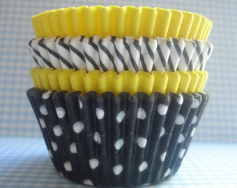 "Cupcake Liners - Baking Cups "" Bumblebee "" (75)"