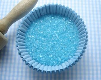 Sparkling Sugar Sprinkles Blue Sprinkles for  Cupcakes or Cookies (lg 4 oz )