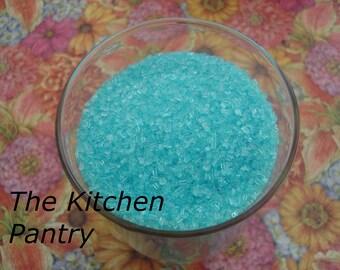 Blue Sparkling Sugar  Jimmies Sprinkles Cupcake Cookies Cakes  2 oz Jar