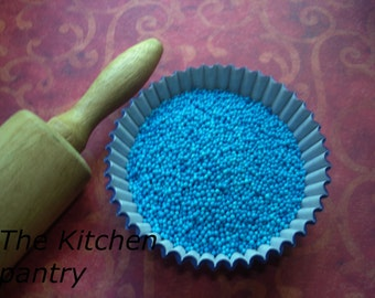 Blue Non Pareils Sprinkles for Cupcakes or Cookies (4 ounces)