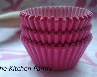 Mini Cupcake Liners 50 Hot Pink Baking Cups