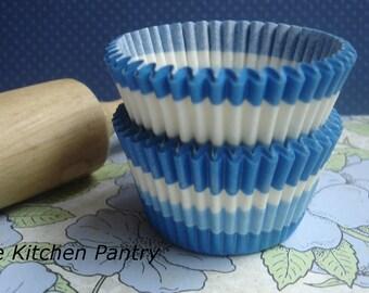Cupcake Liners  Blue swirl Baking Cups Standard  Cupcake liners (100 )