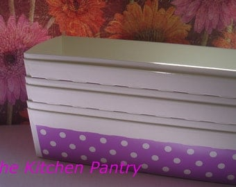 Loaf Baking Pans in Purple Dot  (6) -  breads, cakes Cupcakes
