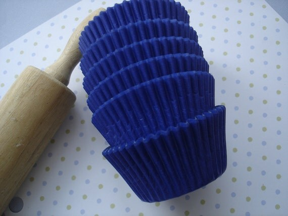 Royal Blue  Cupcake Liners, Paper Baking Cups (100)