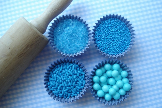 how to make blue sugar sprinkles