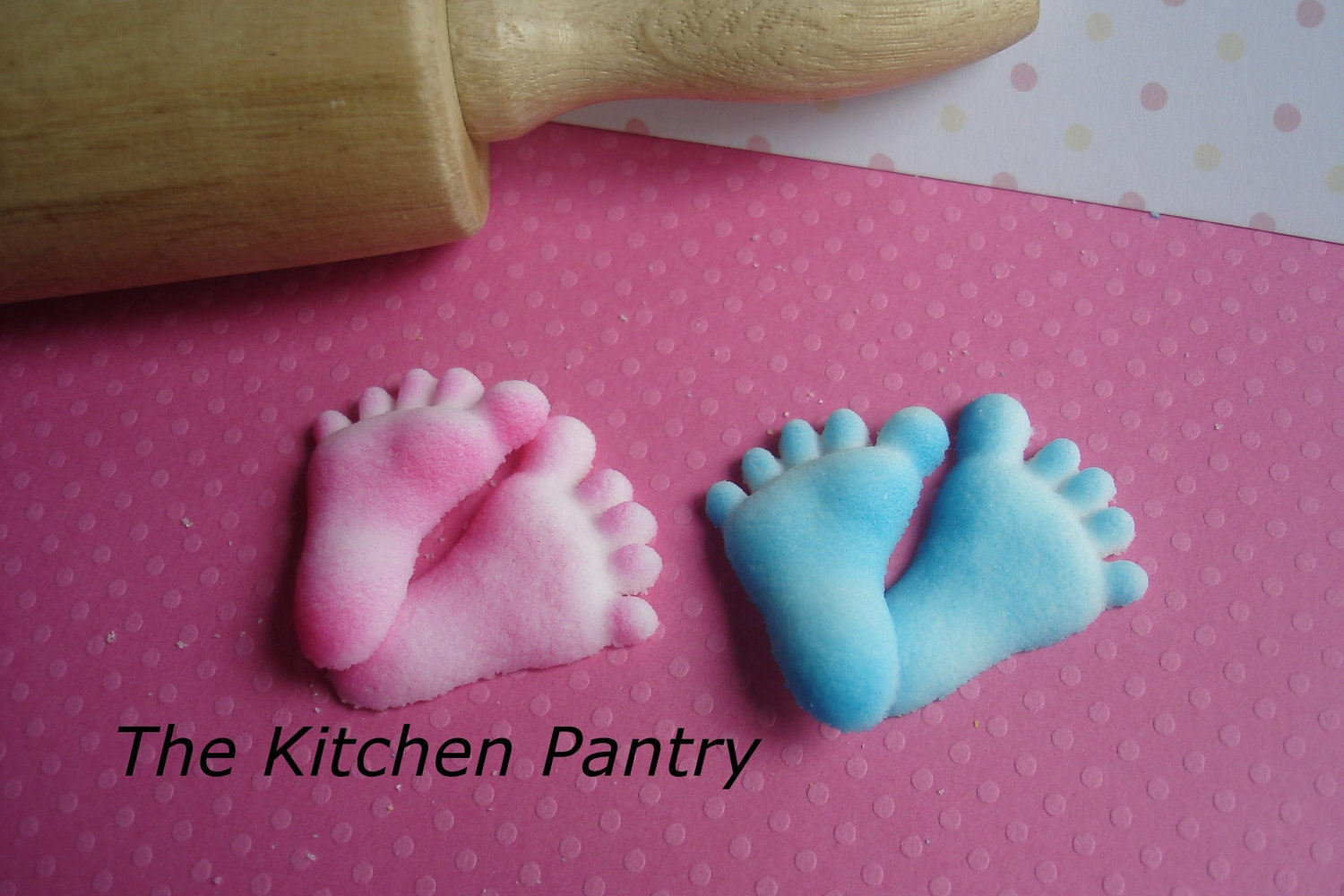 Baby Feet Sugar Decorations 12 Baby Shower by TheKitchenPantry ...