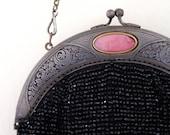 G r A c E // Art Deco beaded purse