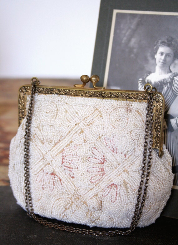 ELeONoRa, vintage italian beaded flapper purse