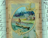 "Men's Vintage Gift Tag  ""Gone Fishing"" by No. 9"