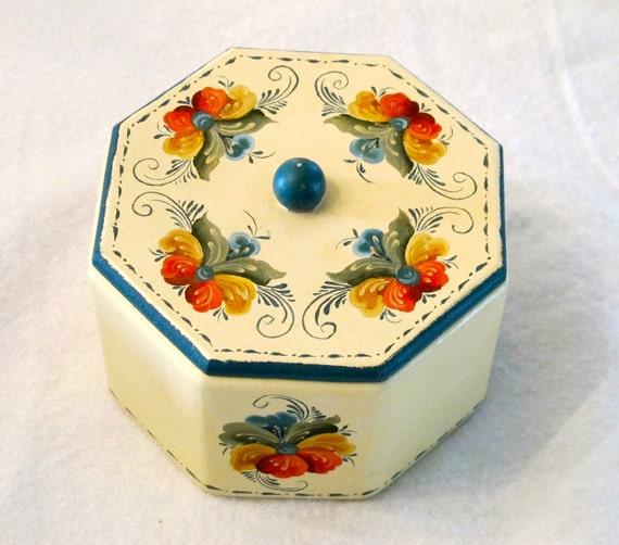 Vintage Folk Art Box
