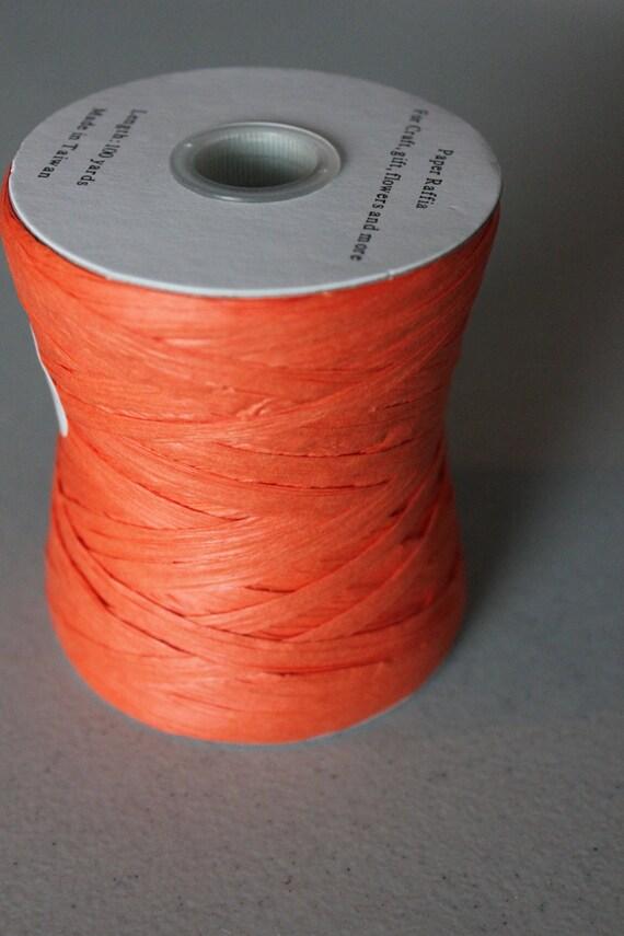 Orange Paper Raffia Ribbon - 100 yards: Orange Ribbon, Orange Raffia, Paper Raffia, Raffia Ribbon