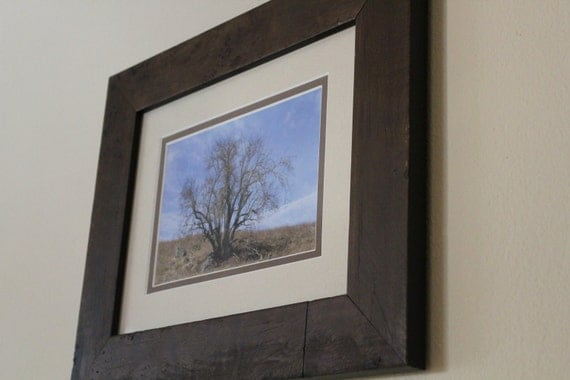 Solitude--matted and framed landscape photo