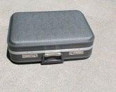 Vintage Grey Suitcase - Hard Shell