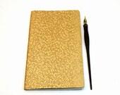 Metallic Gold Journal - Moleskine Cahier notebook - sketchbook