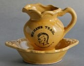 Mohawk Trail, Massachusetts Souvenir Miniature Pitcher and Dish - Free Shipping in USA