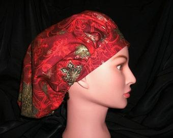 bouffant christmas scrub hat