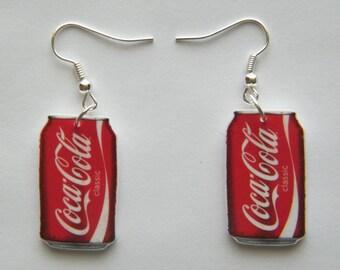 Can of Coke,  Coca Cola Earrings