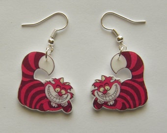 Cheshire Cat earrings,  from Alice and Wonderland