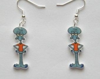 Spongebob Squarepants  Handmade Novelty Squidward Earrings