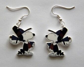 Snoopy Pilgram Thanksgiving  Earrings Peanuts Gang Earrings