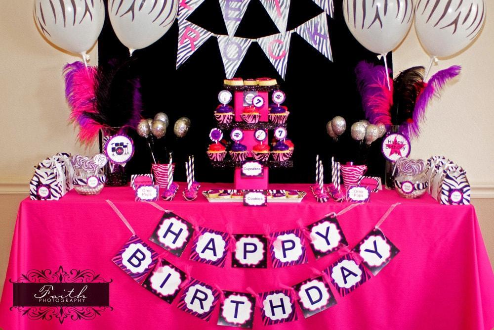 Little Girl Zebra Birthday Party Ideas Image Inspiration of Cake
