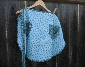 Blue paisley apron
