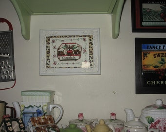 Framed chocolate and cherry card