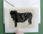 Black Zebra Card
