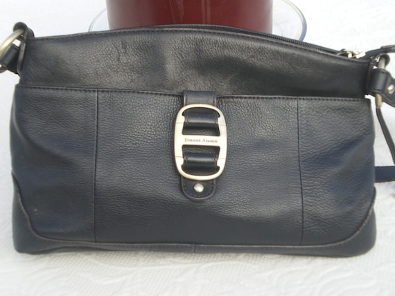 Black Leather Handbag by Etienne Aigner