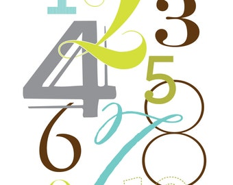 Numbers Nursery Wall Art