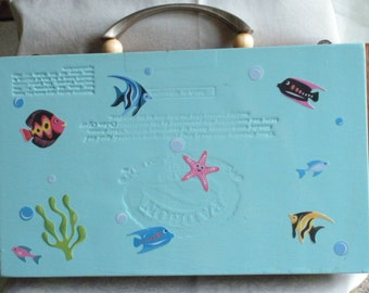 tropical fish cigar box purse