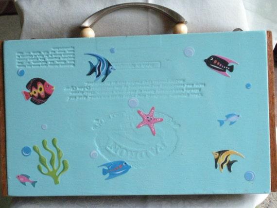 tropical fish cigar box purse
