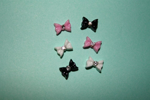 Tiny deco ribbons / bows - 6 piece set (6mm) - MMN