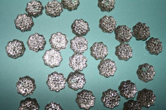 Silver acrylic stone flatbacks - 30 piece set (9mm) - MMR