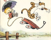CALVIN and HOBBES 7 titles Bill Watterson comic strip books