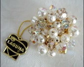LAGUNA Vintage Gorgeous Brooch With Original Hang Tag 1960s