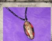 Gothic Egyptian Mummy Sarcophagus OOAK necklace stocking stuffer