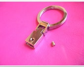 10 pcs Nickel color Alloy Key Fob Hardware Sets Key Fob Findings Buckles Key Ring with Screw