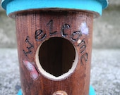 Shabby chic, wooden decorative birdhouse, ornament, shelf setter