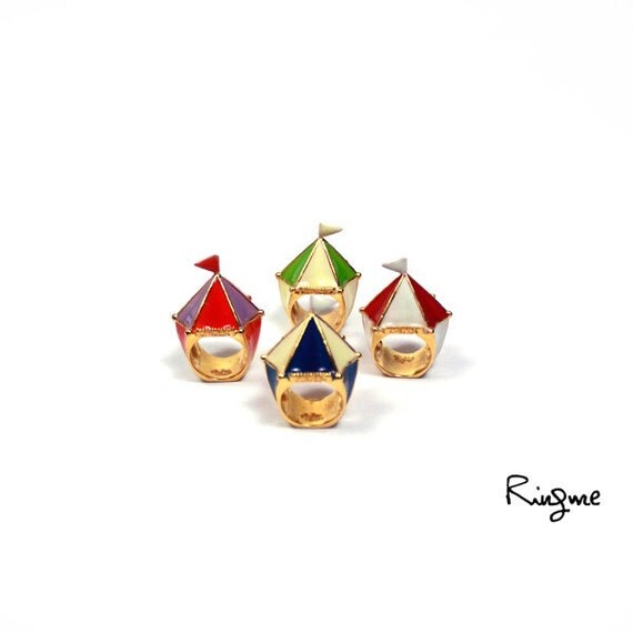 Ring Me // Contemporary Jewelry -- Circus tent Ring ( 4 colors)