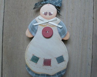Wooden Baby Doll Nursery Wall Decor Shower Gift