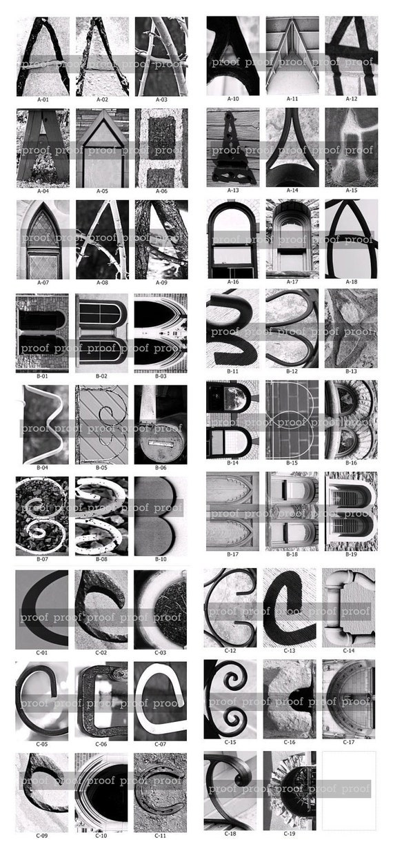 Architectural Letters: Alphabet Photography DOWNLOAD DIY Anniversary Birthday