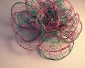 Striped Blossom Wire Fascinator