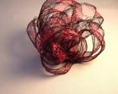 Black & Red Knot Fascinator