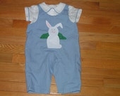 Overalls and Shirt with Appliqued Front and Piping Trim Infant or Toddler Boy