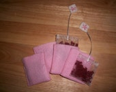 Tea Bag Felt Food Toy Realistic and Life Size, set of 4, each with its own packet