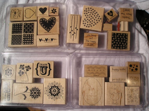 set of 4 Stampin' Up stamp sets.